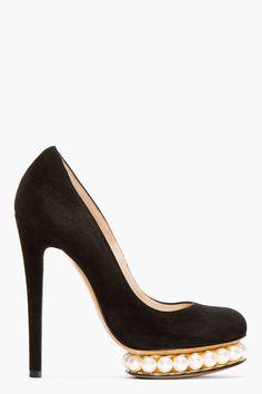abfe635fec2a Nicholas Kirkwood Black Suede And Pearl Platform Pumps Nordstrom Shoes
