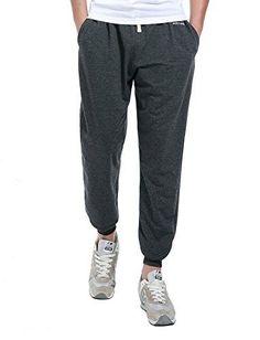 Honour Fashion Men's Cotton Workout Sweatpants With Drawstring