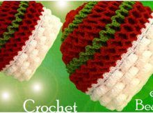 Crochet Reversible Beanie In Two Colors Easter Crochet, Crochet Art, Cute Crochet, Crochet Stitches, Crochet Patterns, Learn Crochet, Crochet Beanie Hat, Crochet Baby Hats, Beanie Hats