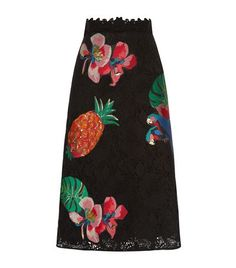 ss17 Valentino Tropical Appliqué Lace Skirt available to buy at Harrods. Shop women's designer fashion online and earn Rewards points.