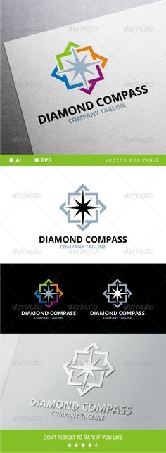 I like the four colors around the compass I want the compass itself to be made of four color quadrants to represent four purposes.  Main logo can just have one color for simplicity, but be able to break out into four quadrants.