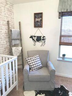 Farmhouse Nursery – Project Nursery Related posts:Mountains Baby Mobile, Modern Nursery Decor, Trees Baby Nursery Mobile, Clouds B.Baby Nursery: Easy and Cozy Baby Room Ideas for Girl and Boys Baby Room Organization Ideas You Can Easily Do! Baby Bedroom, Baby Boy Rooms, Baby Boy Nurseries, Baby Room Decor, Country Boy Nurseries, Room Baby, Cow Nursery, Nursery Ideas, Farm Animal Nursery