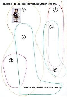 * Amo coser. Nadia Pankiv *: liebres patrón, que es capaz de soportar