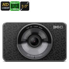 Dash Cam 360 - Full HD 1080P, 60FPS, 3 Inch Display, 1/2.7 Inch CMOS Sensor, Night Vision, G- Sensor, Loop Rrecord - The 360 dash cam has some stunning looks and awesome spaces with a quality COMS sensor it captures FHD recodings keeping you covered on the road.
