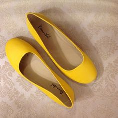 🚨LIQUIDATION SALE🚨💛Yellow Flats💛5/22 HP 5/22/16 Best in Shoes Host Pick! These brand new flats will add a pop of color to your outfits! They are a gorgeous mustard gold yellow which would pair well with lots of different ensembles. Very, very, minor and extremely hard to see factory variations exist in some pairs. I will post additional pictures of specific sizes if requested. I will be happy to answer any questions you may have!  FAST shipping! I always ship ASAP. Sizes 5, 6, 7, and 7.5…