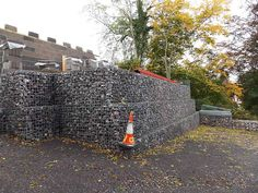 Gabion wall-Beech Cottage. Contemporary house.