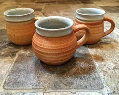 Just unloaded from the reduction kiln #mugs #pottery #clay #Boston