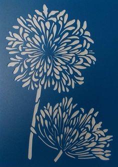 Agapantha Stencil by kraftkutz on Etsy