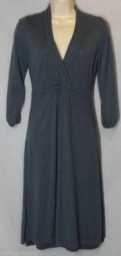 Fab find BODEN size US6R UK10R Wool Sweater Dress Surplice Bodice Thin Blue Gray Slate #Boden #Gray #SweaterDress