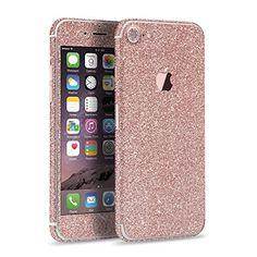 Apple iPhone 7 Glitzer Folie rundum Glamour Glitter Sticker Shining Skin in ros� von PhoneStar