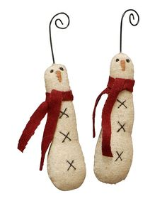 Love this Skinny Snowman Ornament - Set of Six by Primitives by Kathy on #zulily! #zulilyfinds