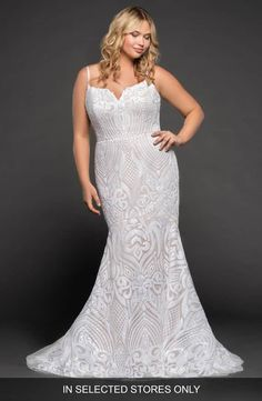 3fd8b6c8442 Blush by Hayley Paige West Mermaid Gown (Plus Size)