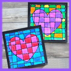 This beautiful black glue art project Valentine& Day is absolutely awesome… - Valentine& Day - Kinder Glue Art, Cubism Art, Kite, Art Projects, Valentines Day, Crafts For Kids, Watercolor, Awesome, Beautiful