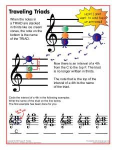 traveling triads visual for music