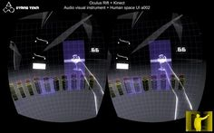 This is our second installment of our Kinect-controlled, virtual reality experiment, using the greatly anticipated Oculus Rift. It's a simple virtual reality environment built in Unity 3D with our own interactive framework. It allows us to use the Kinect to trigger two audio loops and apply basic effects using Max/MSP.  This experiment features a 'Human space UI' which is an interface that is constructed around the user and built in such a way that it takes into account natural range of m...