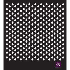 Prima Marketing Designer Stencil Raindrops