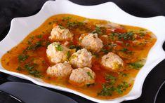 Reteta celei mai bune ciorbe de perisoare - Radio Simplu Balanced Meals, Thai Red Curry, Food And Drink, Canning, Meat, Chicken, Ethnic Recipes, Soups, Red Peppers