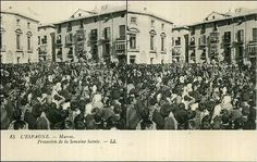 Murcia: The archaelogical site was destroyed during socialist mayor José Méndez's administration in 1996. I've found this ancient photograph taken on 1900 at Cardenal Belluga Square. None of the buildings on the picture exist today.