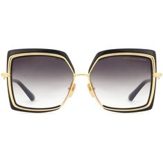 Dita Eyewear Narcissus Square Sunglasses (595 CHF) ❤ liked on Polyvore featuring accessories, eyewear, sunglasses, black, dita glasses, dita sunglasses, dita eyewear, square sunglasses and square glasses