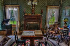 Sitting Room, Pioneer Florida Museum and Village, Dade City, Florida...It would be nice to have a table to play games on in the living room