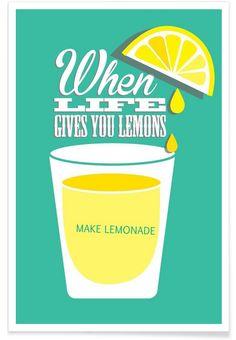 Lemons as Premium Poster by Trabolt Design   JUNIQE