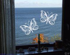 Fenstertattoo No.SF869 Schmetterlingsduo #Fensterbild #Fenstersticker #Fensteraufkleber #windowsticker #Fenstertattoo #Schmetterlinge