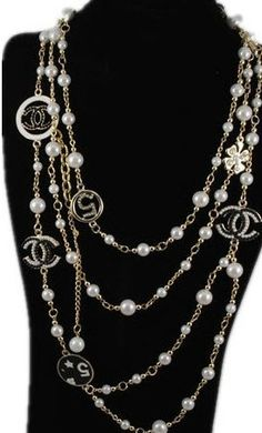 Designer Chanel CC Logo Necklace Pearls Necklaces - jishopping