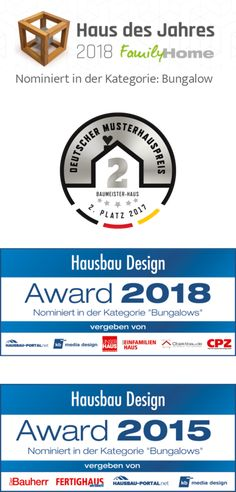 Auszeichnungen für Haus Riedel Bungalows, Town House Plans, Affordable House Plans, Modern Bungalow House, Design Case, Cabin Homes, Planer, House Design, How To Plan