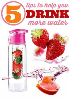 5 Tips to Help You Drink More Water - It's a daily struggle to get in all my water! Using these 5 tips makes it much easier. Healthy tips for a healthier you.