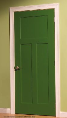 Crossmore - add GreenDor options like agfiber cores. See more here / & Interior Doors | white molded panel door contrasts nicely with dark ...