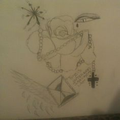 ''Time is an illusion just like my life'' another tattoo design of mine(: