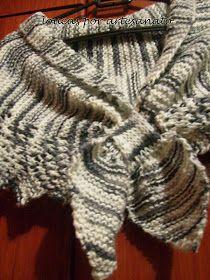 Receita de Tricô: Gola de Bicos em tricô