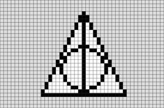Harry Potter Sign of the Deathly Hallows Pixel Art from BrikBook.com #HarryPotter #DeathlyHallows #Symbol #Sign #Mark #pixel #pixelart #8bit Shop more designs at http://www.brikbook.com