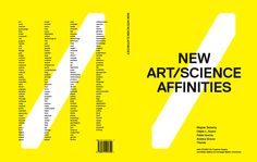 New Art/Science Affinities book >Miller Gallery at Carnegie Mellon University