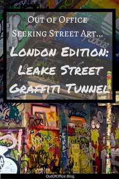 London's Leake Street Graffiti Tunnel is one of the only authorized graffiti areas in Central London; it's quite popular and the art changes daily.