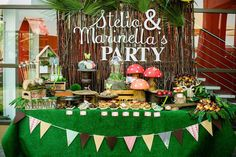 Dessert Table from a Robin Hood & Tinker Bell Enchanted Forest Birthday Party via Kara's Party Ideas! KarasPartyIdeas.com (2) 6th Birthday Parties, Birthday Party Decorations, Boy Birthday, Birthday Ideas, Enchanted Forest Party, Enchanted Garden, Party Ideas, Party Party, Woodland Forest