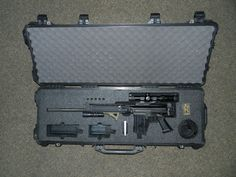 Pelican 1720 Case with custom foam insert for FN FAL PARA and accessories