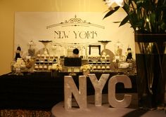 new york party by mon tresor and couture cupcakes and cookies  https://www.facebook.com/MonTresorPage#!/media/set/?set=a.424948687537570.98778.110664712299304=1
