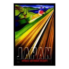 Vintage Poster Print Japan Railway