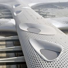 Studio Fuksas completes Terminal 3 at Shenzhen Bao'an International Airport . Oma Architecture, Futuristic Architecture, Beautiful Architecture, Zaha Hadid, Airport Design, Hotels, Building Structure, International Airport, Natural Light