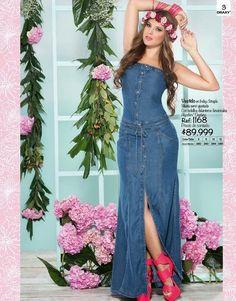 Demin Dress, Denim Outfit, Dress Skirt, Sexy Dresses, Cute Dresses, Beautiful Dresses, Summer Dresses, Jeans Denim, Jeans Rock