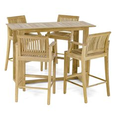 This Westminster Teak Outdoor Bar Furniture Set includes our Laguna Rectangular Teak Bar Table and our Laguna Teak Bar Stools. All our teak outdoor bar furniture is manufactured with the same quality that was rated BEST OVERALL by the Wall Street Journal. Outdoor Bar Furniture, Teak Furniture, Cabinet Furniture, Furniture Sets, Furniture Market, Furniture Design, Westminster Teak, Bar Cart Decor, Modern Lounge