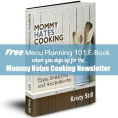 Recipe Index - Mommy Hates Cooking-Rach (ignore the book) you'll like a lot of these quick recipes.