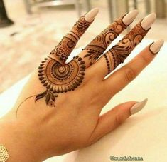 Explore latest Mehndi Designs images in 2019 on Happy Shappy. Mehendi design is also known as the heena design or henna patterns worldwide. We are here with the best mehndi designs images from worldwide. Finger Henna Designs, Simple Arabic Mehndi Designs, Mehndi Designs 2018, Modern Mehndi Designs, Mehndi Designs For Beginners, Mehndi Designs For Girls, Mehndi Design Photos, Mehndi Simple, Mehndi Designs For Fingers