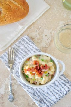 Creamy Pancetta + Leek Macaroni and Cheese from @Laurie McNamara ~ Simply Scratch