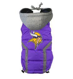 Official  Minnesota VIKINGS Puffer Vest Jacket in color purple sizes S-XXXL