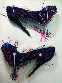 splattered shoes by ilovetocreate, via Flickr