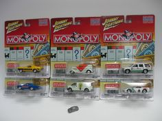 Monopoly - Johnny Lightning Lot of 6 Die Cast 1:64 - Playing Mantis Collectible #JohnnyLightning