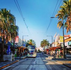 Melbourne tram at Acland Street, St Kilda Melbourne Tram, Places In Melbourne, Melbourne Suburbs, Melbourne Street, Melbourne Australia, Brisbane, St Kilda, Beautiful World, Places To Travel