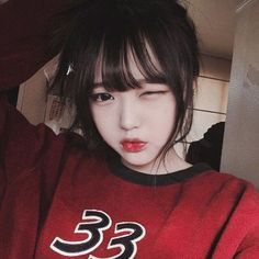 korea, ulzzang, and オルチャン image airy bangs Ulzzang Korean Girl, Cute Korean Girl, Cute Asian Girls, Cute Girls, Ulzzang Hair, Ulzzang Makeup, Korean Beauty, Asian Beauty, Asian Eyebrows